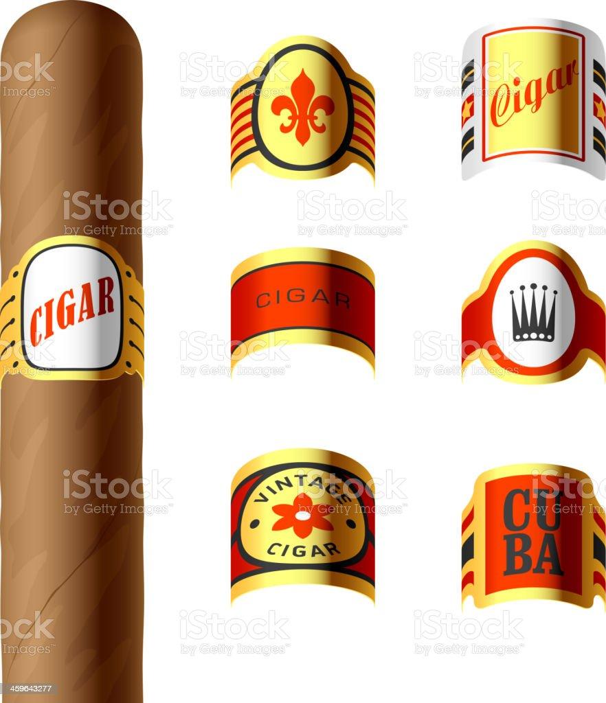 Cigar labels vector art illustration