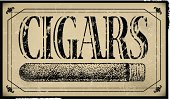 """Cigar Sign Background - Retro. Retro style illustration of a cigar sign. Check out my """"Medical and Health Vector"""" light box for more."""