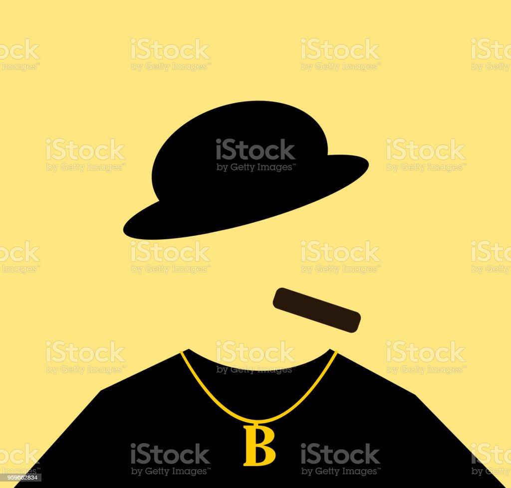 cigar smoker vector art illustration
