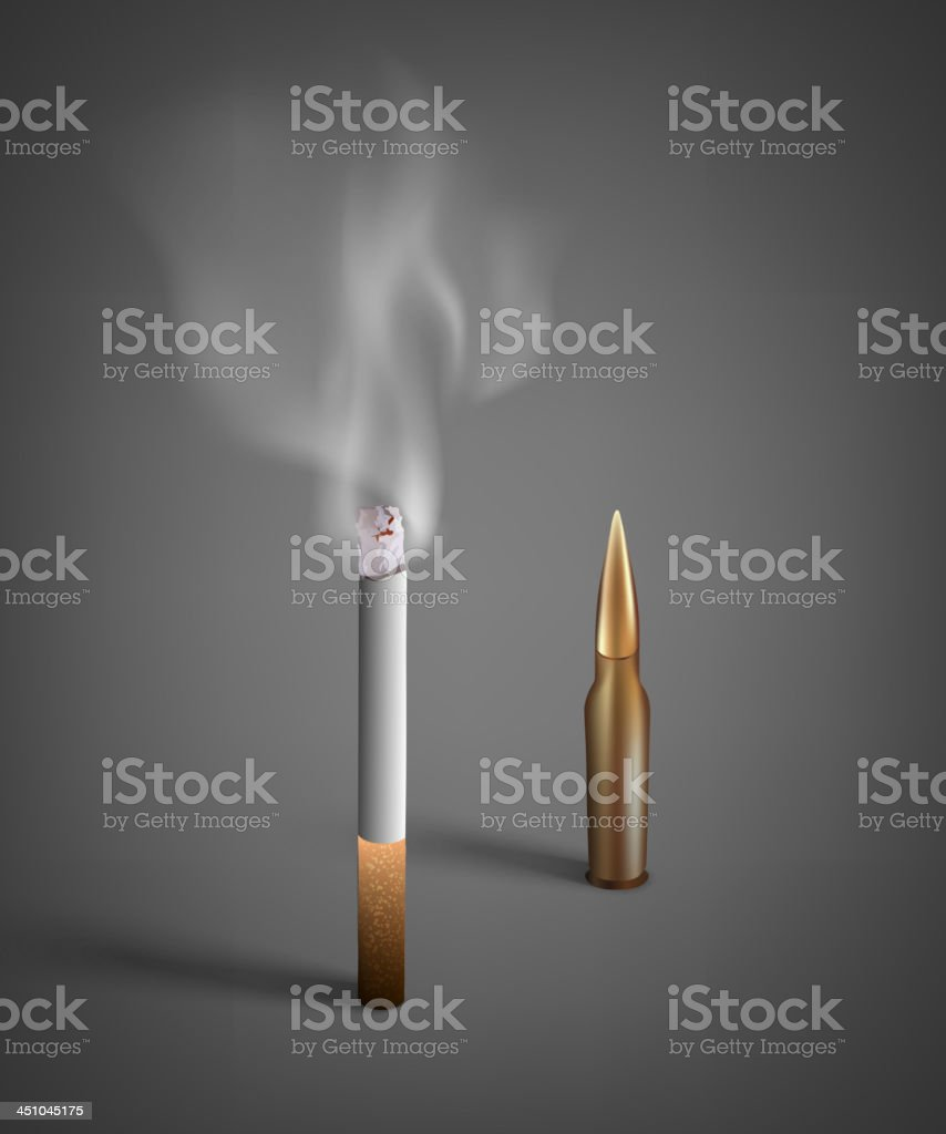 cigarette and bullet royalty-free cigarette and bullet stock vector art & more images of addiction