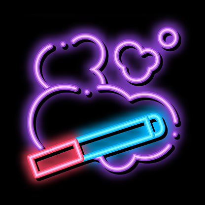 Cigarette And Smoke Steam neon glow icon illustration