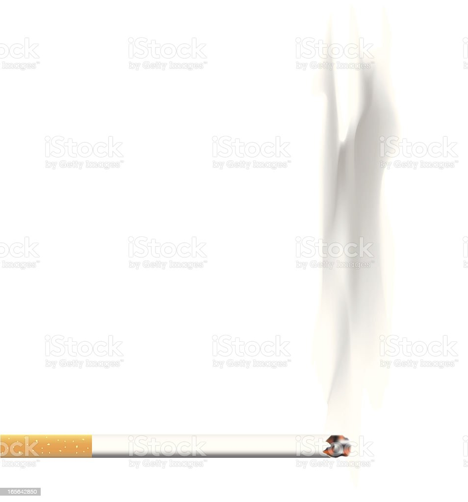 Cigarette and Smoke Vector royalty-free stock vector art