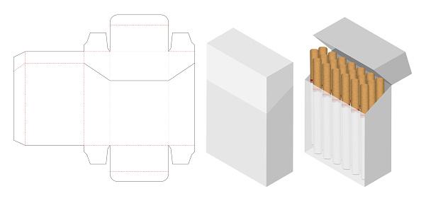 Download Cigarette Box 3d Mockup With Box Dieline Stock ...