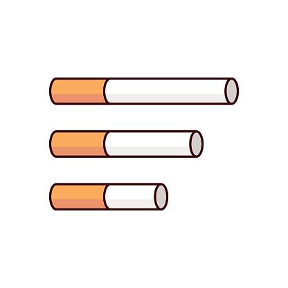 Cigarette cartoon illustration