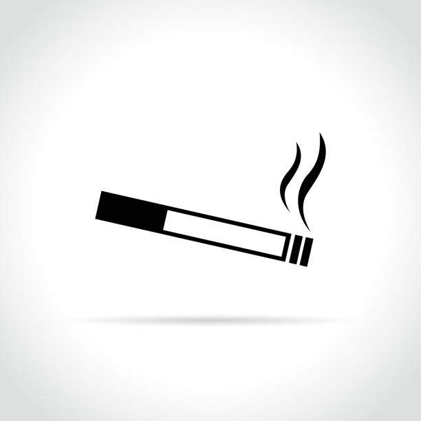 illustrazioni stock, clip art, cartoni animati e icone di tendenza di cigarette icon on white background - sigaretta