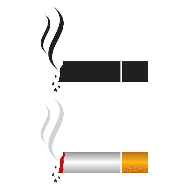 illustrazioni stock, clip art, cartoni animati e icone di tendenza di icona di sigaretta - cicca sigaretta