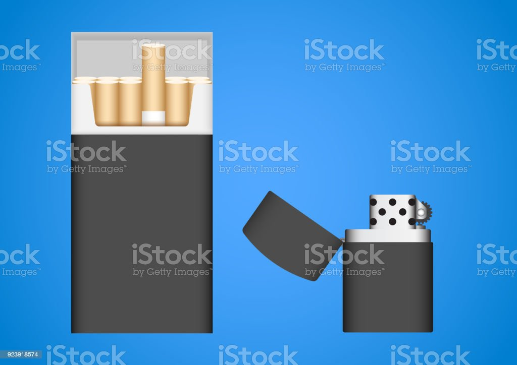 cigarette pack template stock vector art more images of addiction
