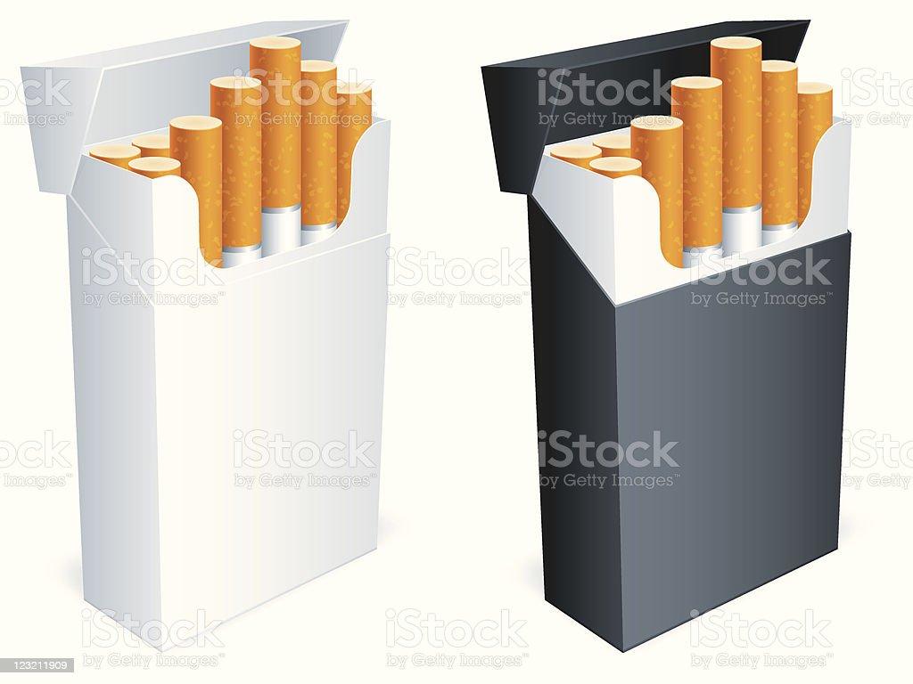 Cigarette pack. royalty-free stock vector art