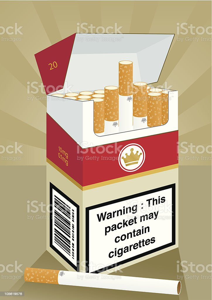 Cigarette Packet royalty-free cigarette packet stock vector art & more images of box - container