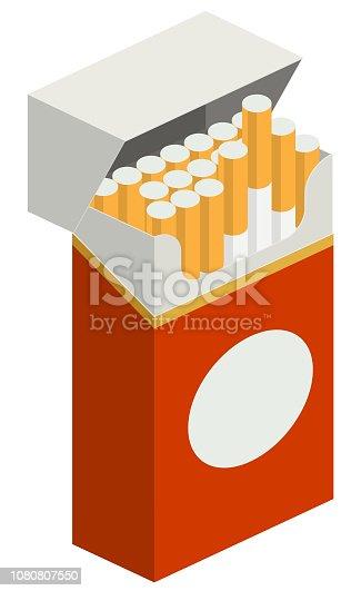 Cigarette packet illustration in vector.