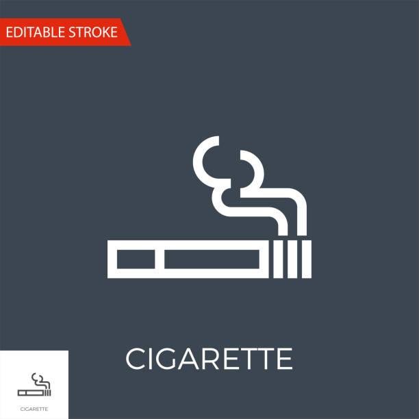 illustrazioni stock, clip art, cartoni animati e icone di tendenza di cigarette vector icon - deadly sings
