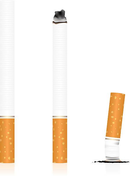 illustrazioni stock, clip art, cartoni animati e icone di tendenza di sigaretta - cicca sigaretta