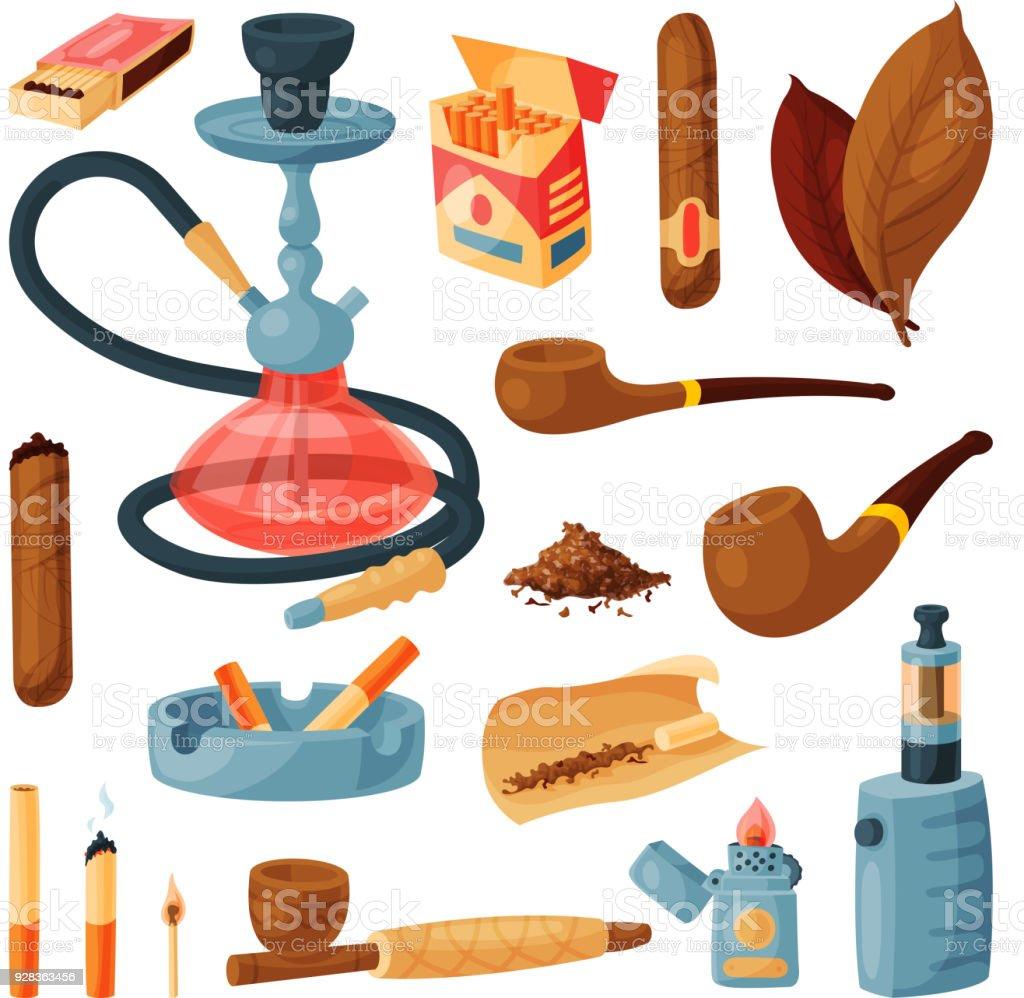 Ilustración de Cigarrillo Vector Fumar Tabaco O Cigarros Con ...