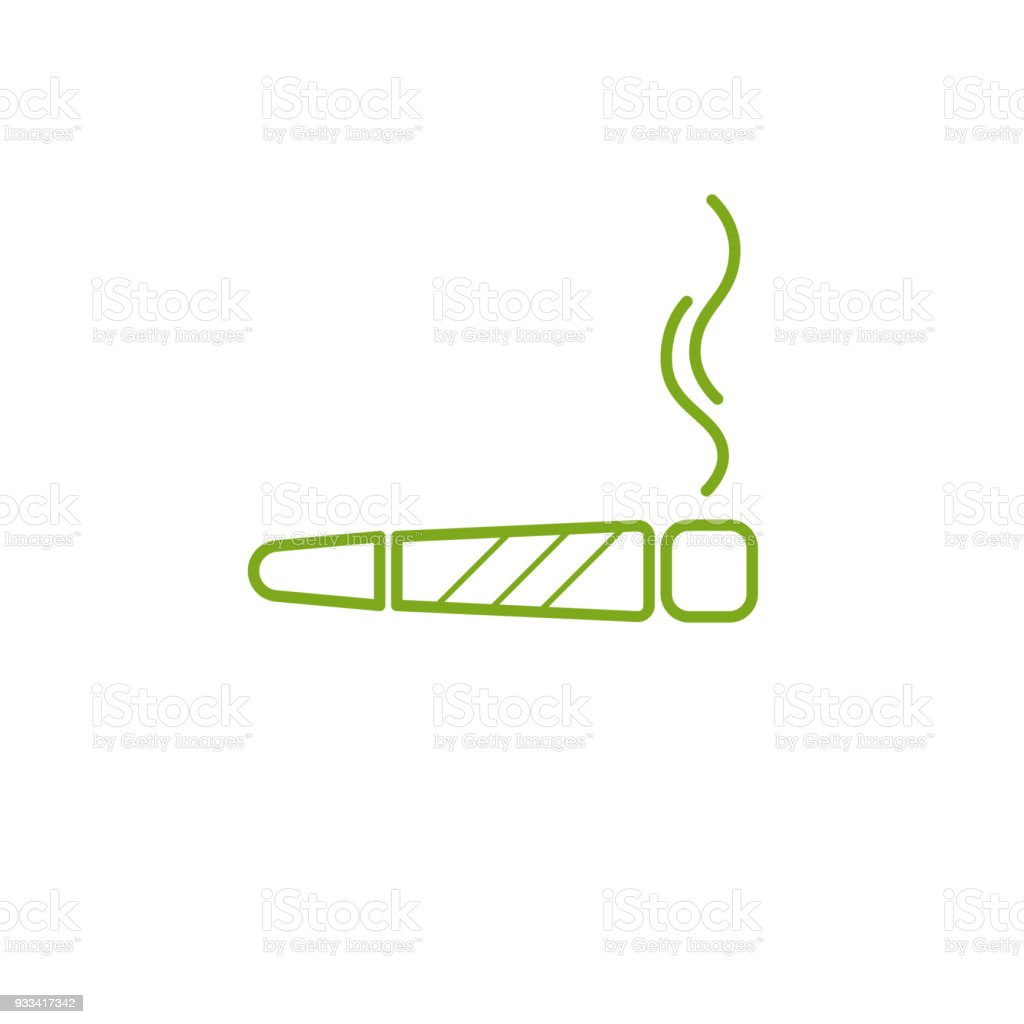 Cigarette with drug, marijuana cigarette rolled with a leaf of cannabis. Joint or spliff. Drug consumption, marijuana and smoking drugs abuse. Illegal drug activity. Legal and Recreational Marijuana with room for text. Medical cannabis. vector art illustration