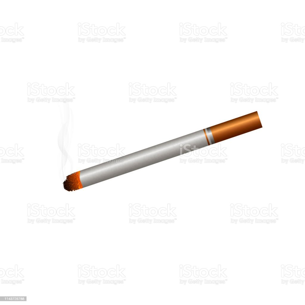 Rauchen All White Zigarette