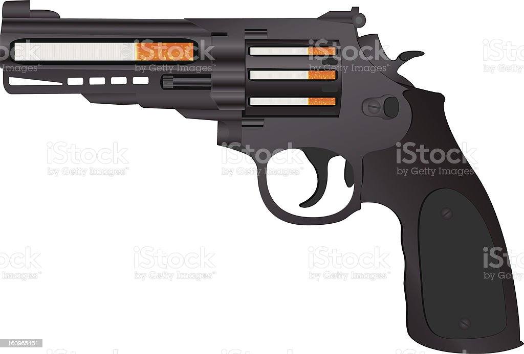 cigarettes pistol royalty-free stock vector art