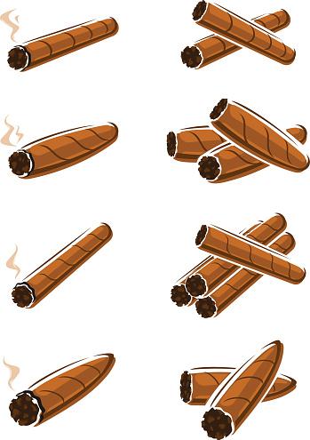 Cigars set. Vector