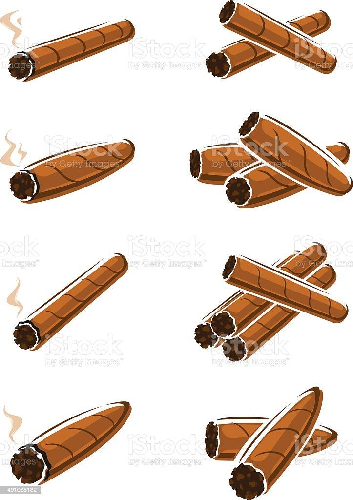 Cigars set. Vector vector art illustration
