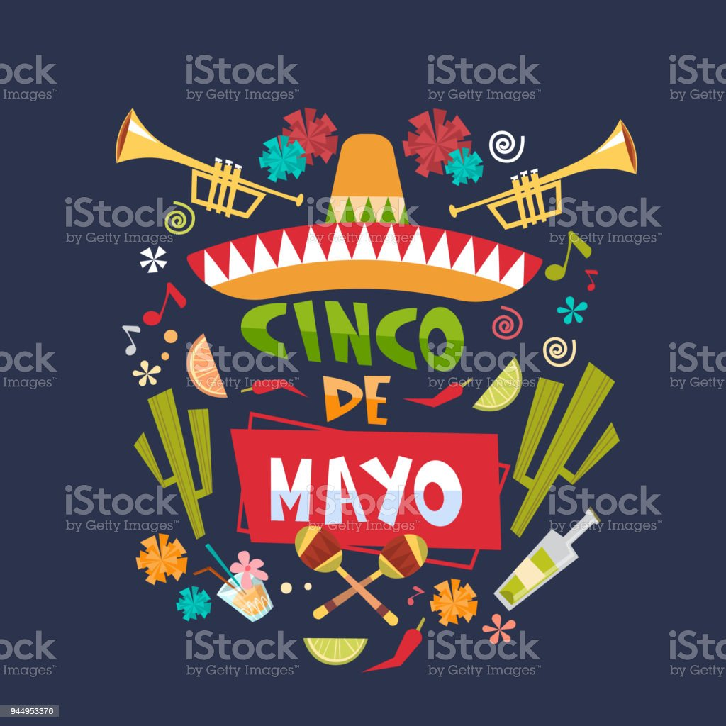 Cinco de mayo background mexican holiday greeting card or poster cinco de mayo background mexican holiday greeting card or poster design royalty free cinco de m4hsunfo Image collections