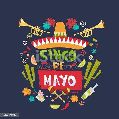 istock Cinco De Mayo Background Mexican Holiday Greeting Card Or Poster Design 944953376
