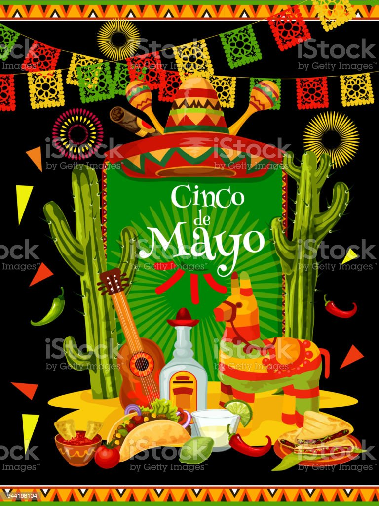 Cinco de mayo banner for mexican party invitation arte vetorial de cinco de mayo banner for mexican party invitation cinco de mayo banner for mexican party invitation stopboris Image collections