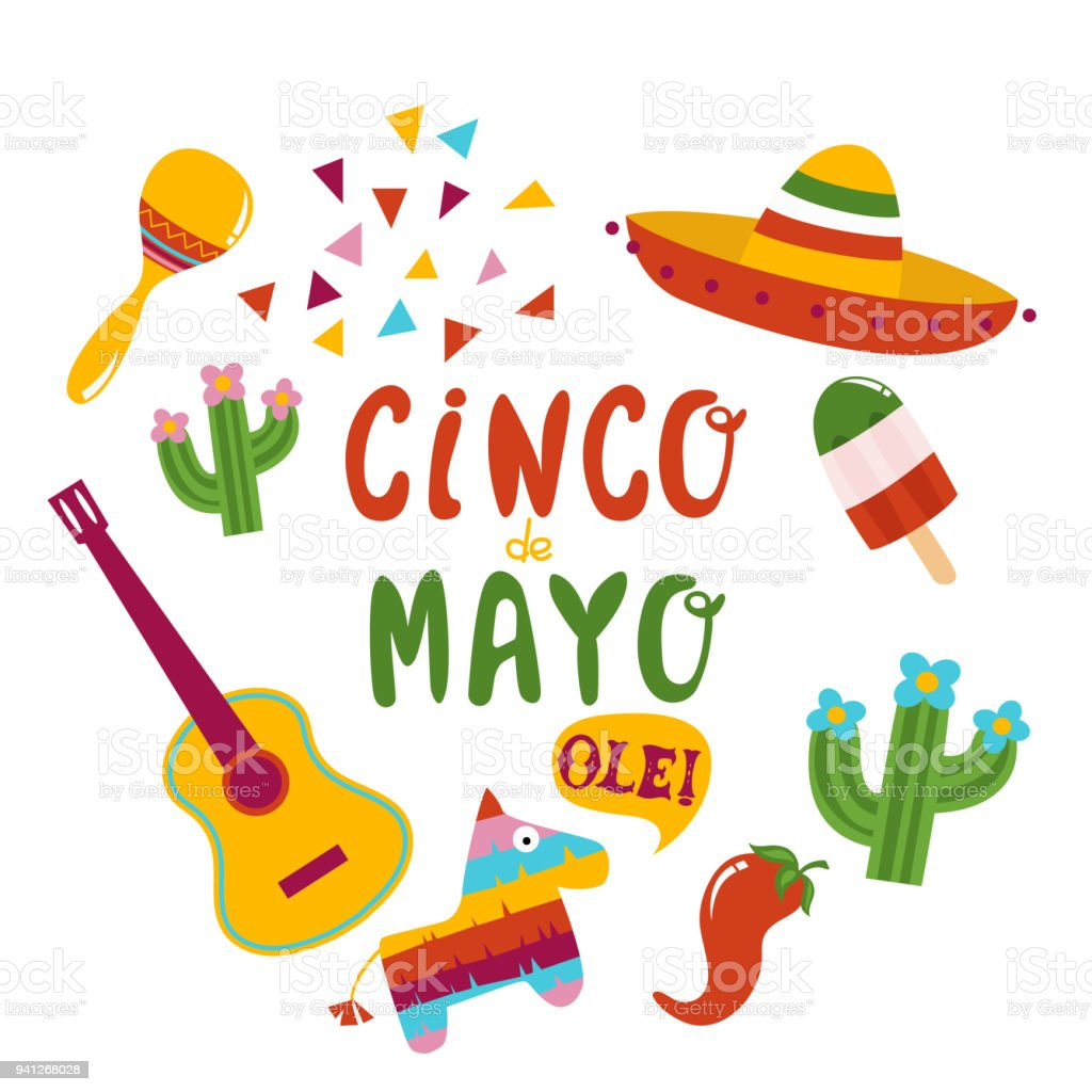 Cinco De Mayo Banner Lettering Design Stock Vector Art More Images