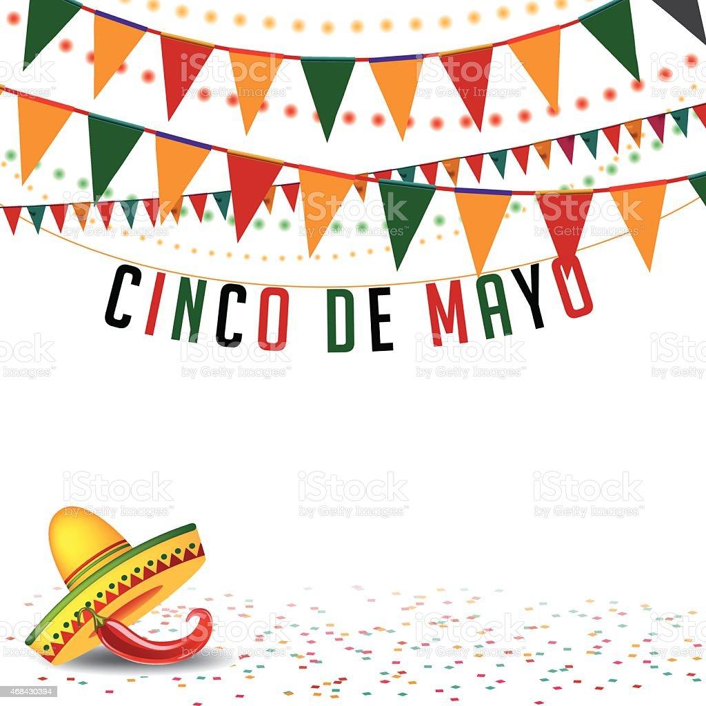 De Partida Cinco De Mayo bunting fundo De Vetor EPS 10 - ilustração de arte em vetor