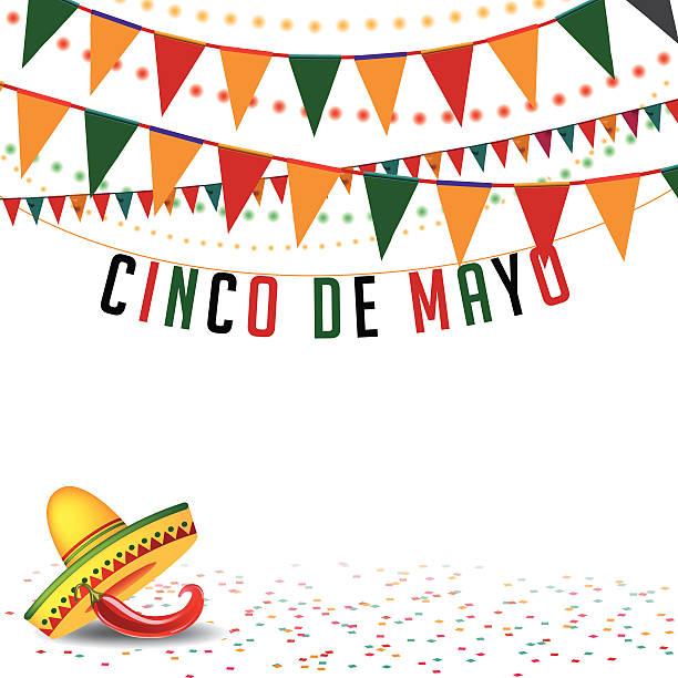 Cinco De Mayo bunting Hintergrund EPS 10, Vektor - – Vektorgrafik