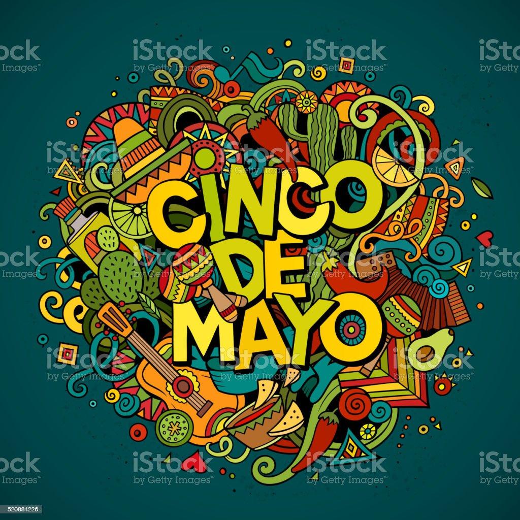 Cinco De Mayo-Cartoon-Abbildung – Vektorgrafik