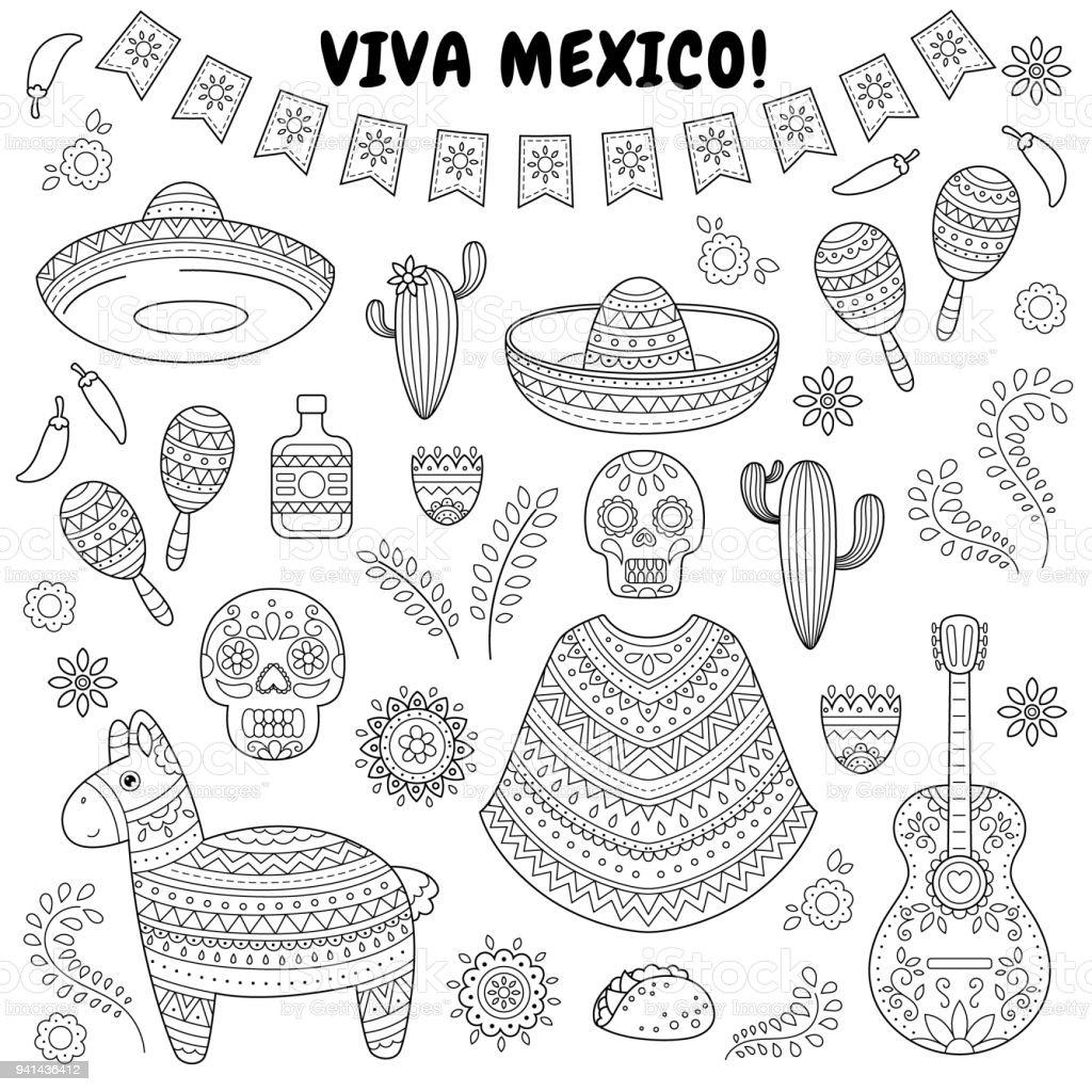Ilustración De Celebración Del Cinco De Mayo En México La