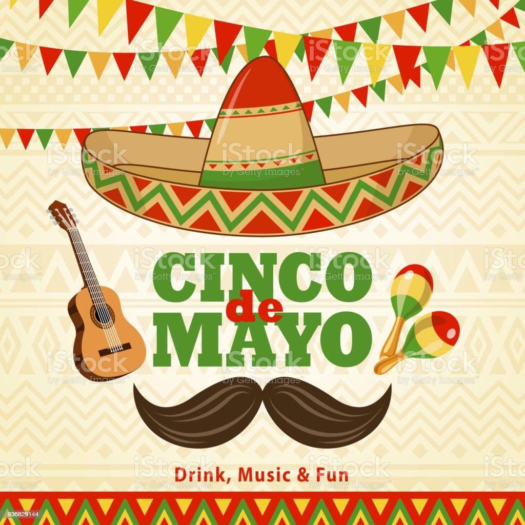 Cinco De Mayo Celebration Stock Illustration - Download ...