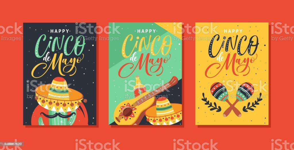 Ilustración de Diseño De Tarjetas Cinco De Mayo Festival Con ... b38964da98d