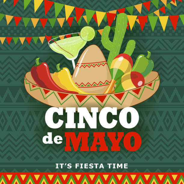 Cinco De Mayo Fiesta vector art illustration