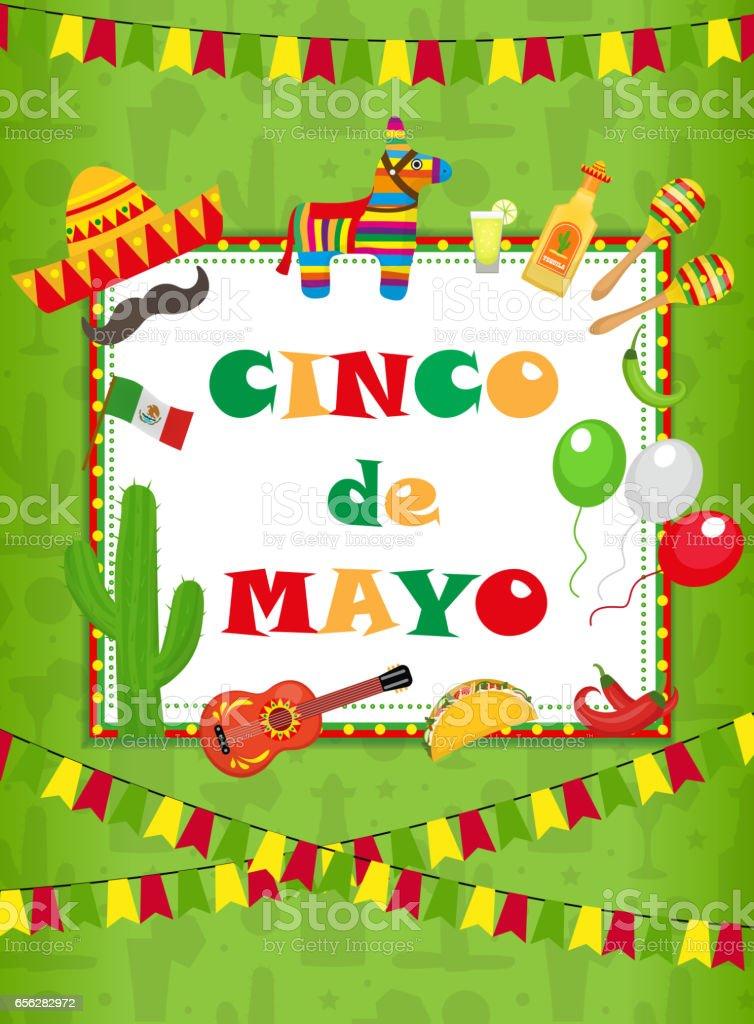 Ilustración De Cinco De Mayo Tarjetas De Felicitación