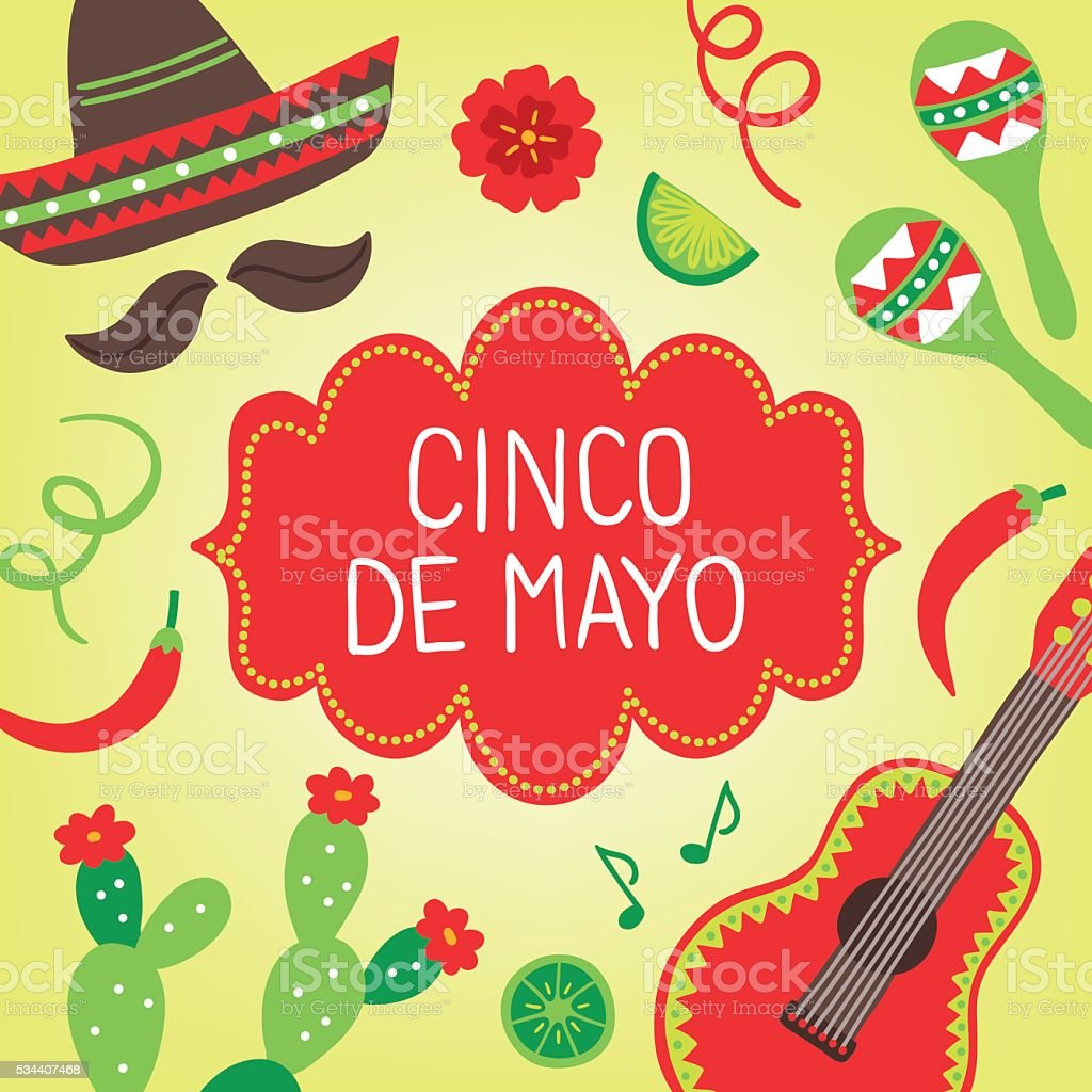 Cinco de mayo greeting card with maracas sombrero cactus stock cinco de mayo greeting card with maracas sombrero cactus royalty free stock vector kristyandbryce Gallery