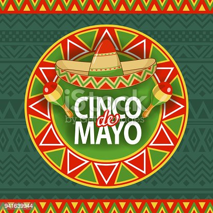 istock Cinco De Mayo Sombrero Celebration 941639944