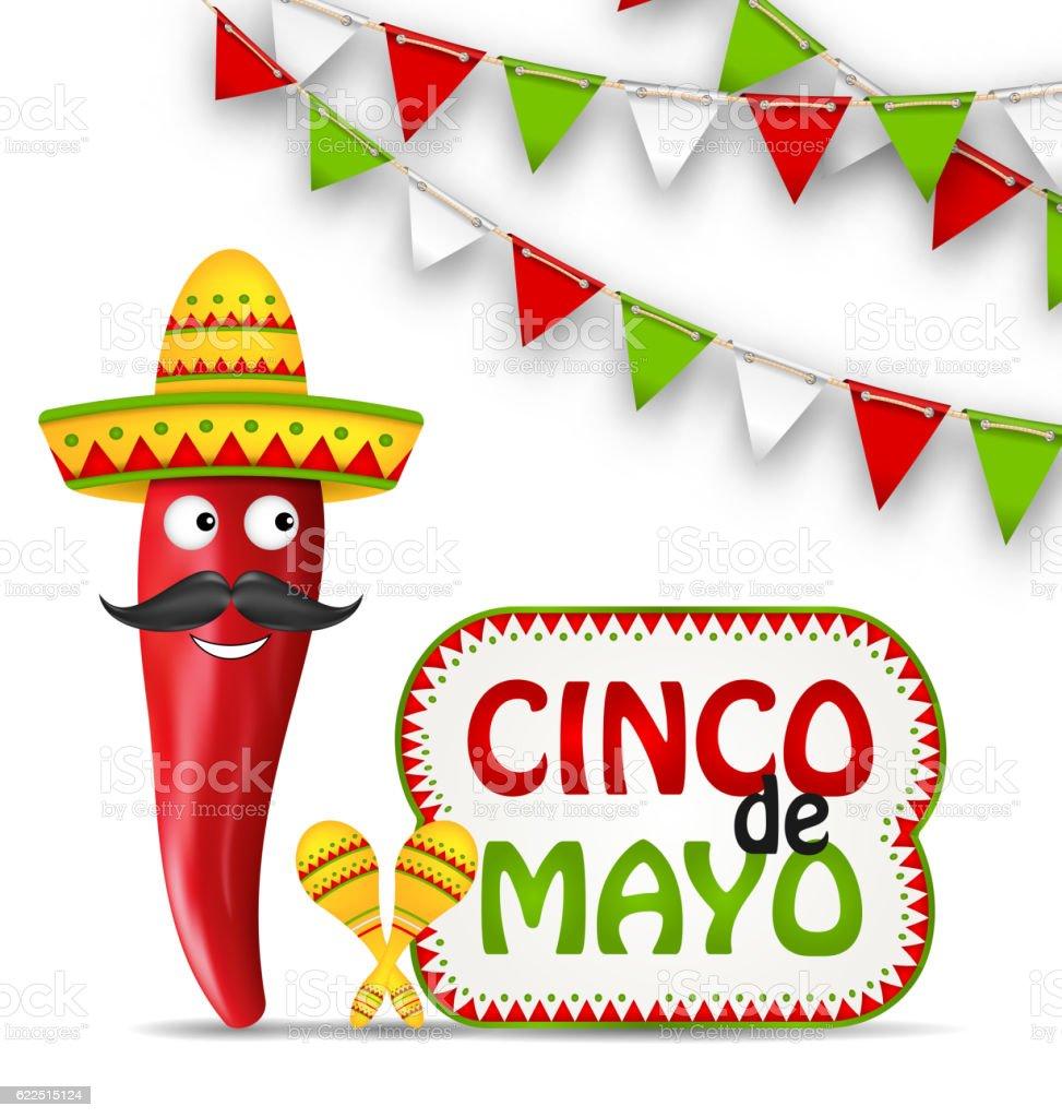 Cinco De Mayo Holiday Background vector art illustration
