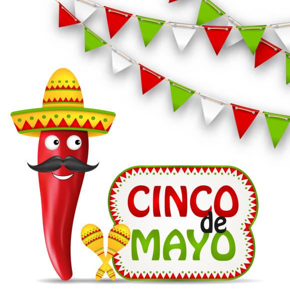 cinco de mayo holiday background - cinco de may stock illustrations, clip art, cartoons, & icons