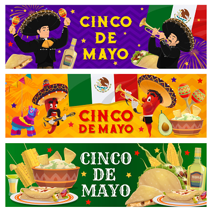 Cinco de Mayo holiday Mexican party party banners