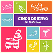 Cinco De Mayo Icons