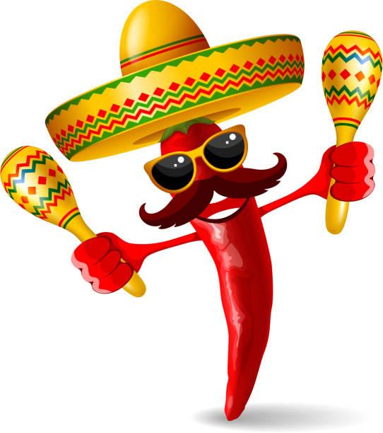 bildbanksillustrationer, clip art samt tecknat material och ikoner med cinco de mayo jalapeno - latino music