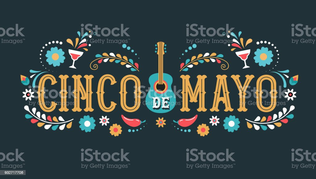 Cinco de Mayo - May 5, federal holiday in Mexico. Fiesta banner and poster design with flags royalty-free cinco de mayo may 5 federal holiday in mexico fiesta banner and poster design with flags stock illustration - download image now