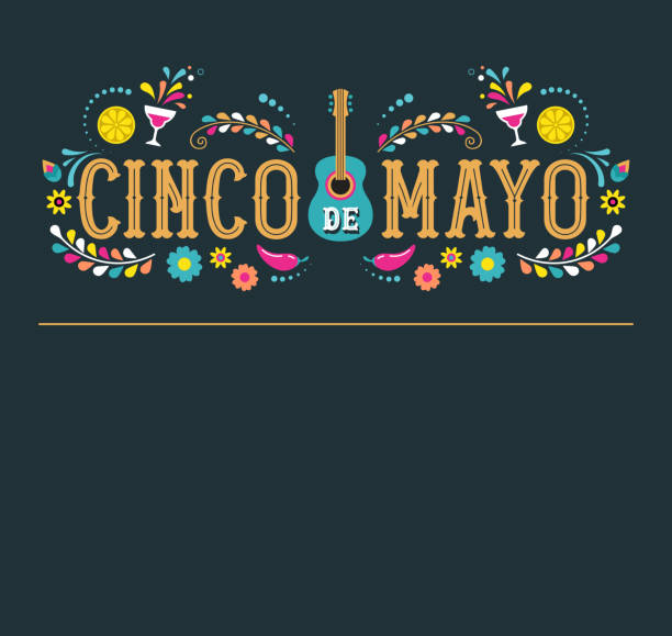 Cinco de Mayo - May 5, federal holiday in Mexico. Fiesta banner and poster design with flags Cinco de Mayo - May 5, federal holiday in Mexico. Fiesta banner and poster design with flags, flowers, decorations cinco de mayo stock illustrations