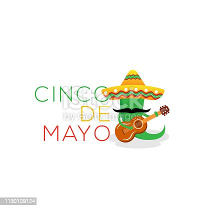 istock Cinco de Mayo -May 5th- typography banner vector. Mexico design for fiesta cards or party invitation and poster. Collection of Cinco de Mayo design vector illustration elements - Vector 1130109124