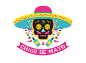 Cinco de Mayo, Mexican fiesta, holiday poster, party flyer, funny greeting card