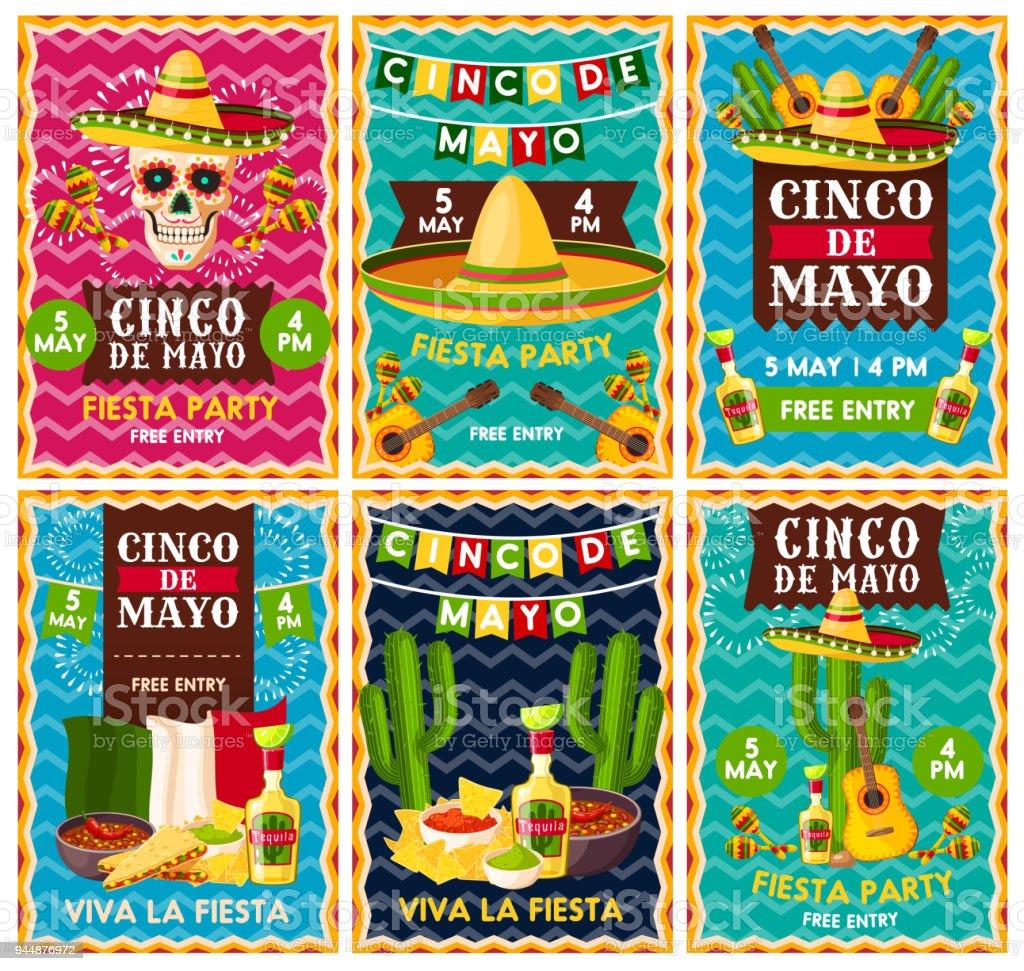 Cinco de Mayo mexican fiesta party banner design vector art illustration