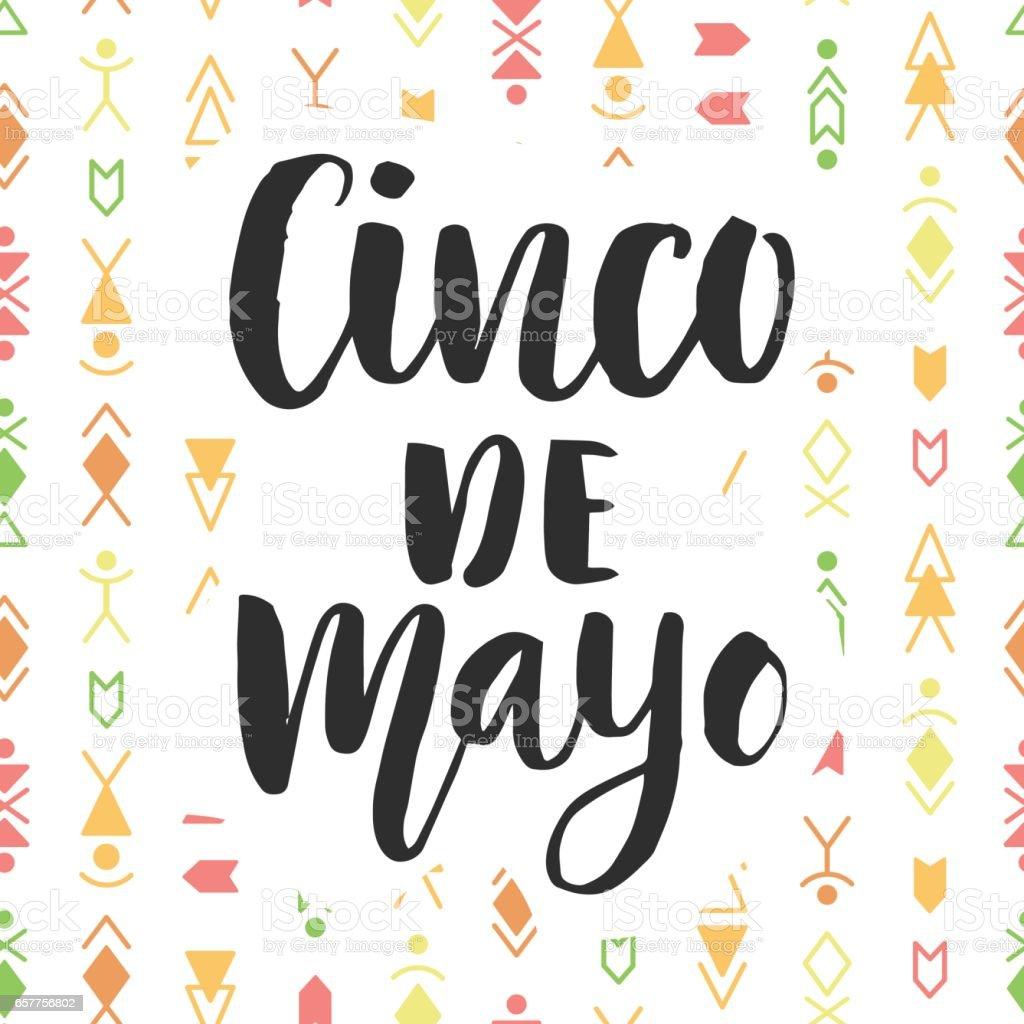 Cinco de Mayo. Mexican holiday poster vector art illustration