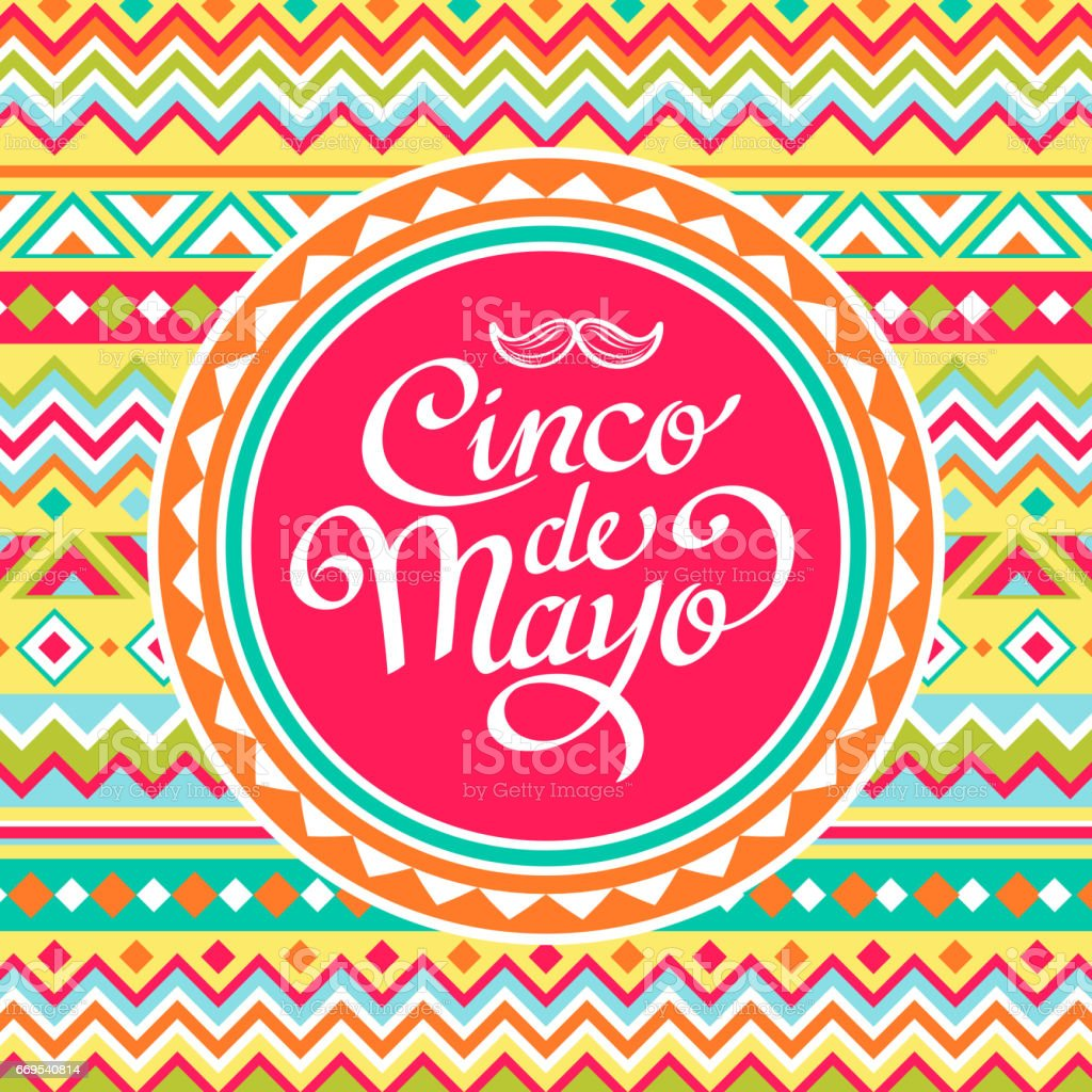 Cinco De Mayo Mexican Pattern vector art illustration