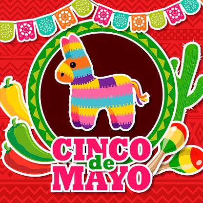 Cinco De Mayo Mexican Pinata