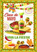 Cinco de Mayo Mexican vector fiesta greeting card